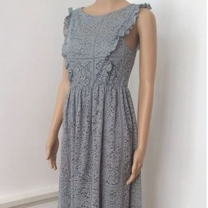 Zara- crochet lace sleeve less dress